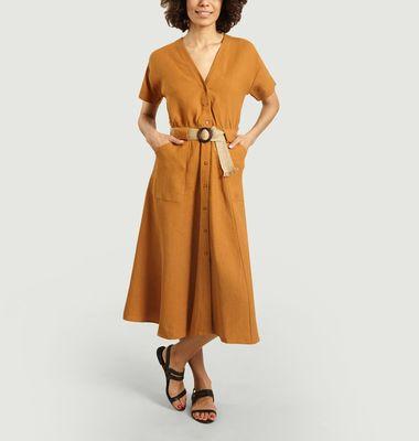 Cala Rafia belted dress