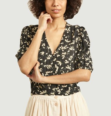 Georgia buttonned floral pattern top