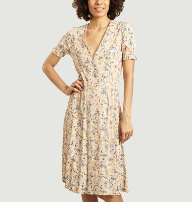 Madoura butonned floral pattern dress