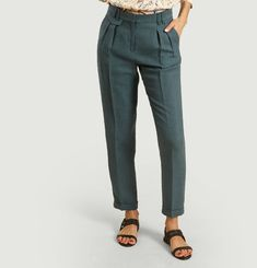 Mansfield Li lyocell and linen trousers