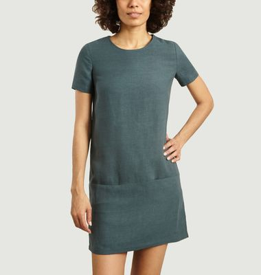 Hubertus lyocell and linen dress