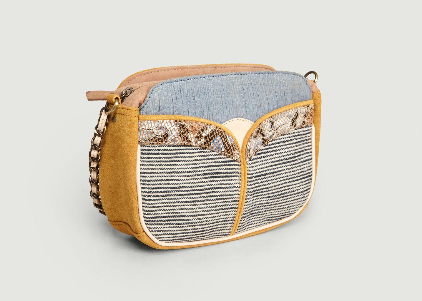 Sac en cuir suédé et textile Divine Stripes - Sessun