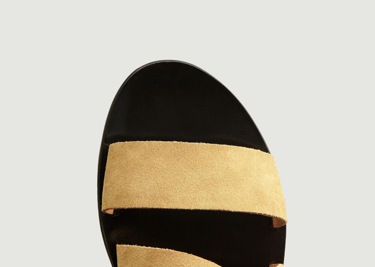 Sandales plates en cuir suédé Giudi - Sessun