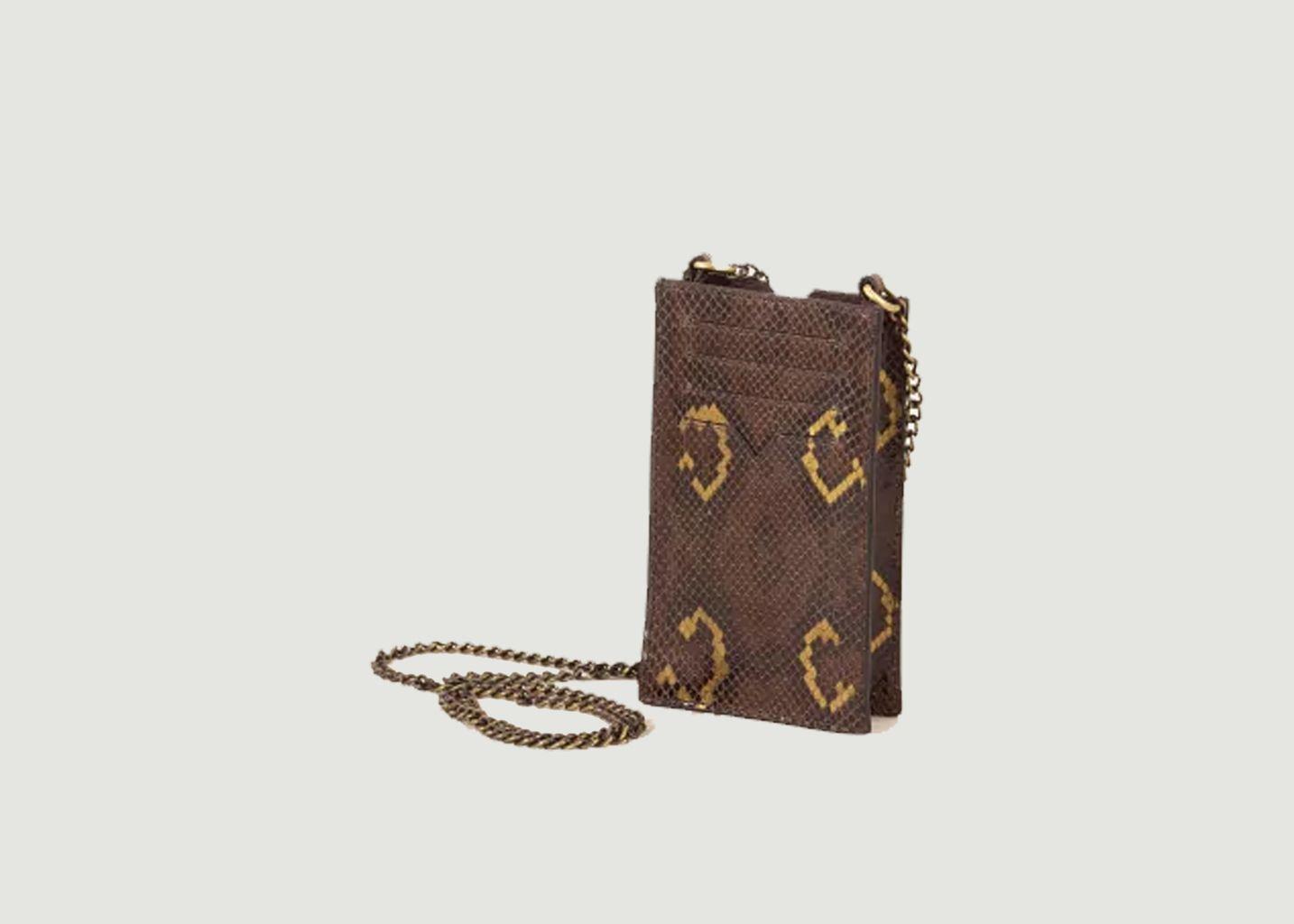 Pochette pour téléphone portable en cuir effet python Ama - Sessun