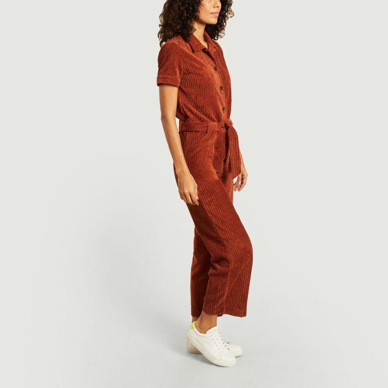 Combinaison manches courtes en velours côtelé Brooke - Sessun