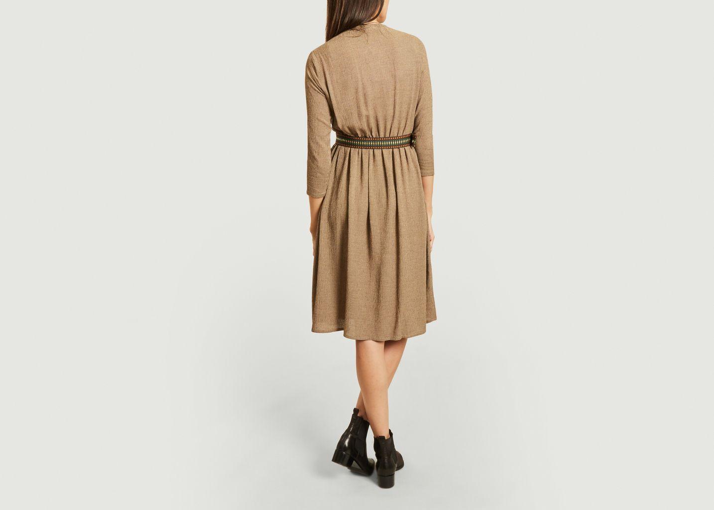 Robe boutonnée ceinturée Dolores  - Sessun