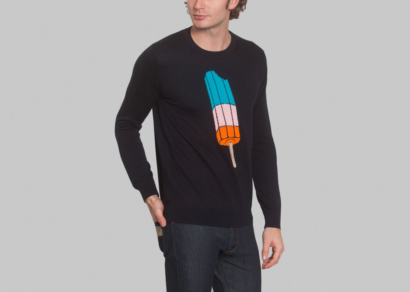 Pull Col Rond Glace - Six & Sept