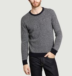 Pull Col Rond Diagonale