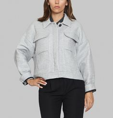 Oversized Cropped Jacket