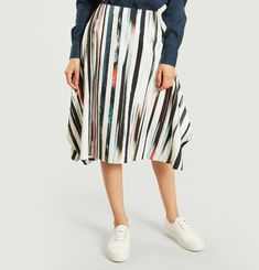 Striped Culotte Skirt