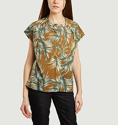 Mirmande short sleeves printed cotton shirt