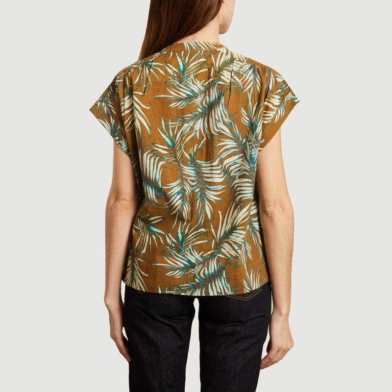 Chemise manches courtes imprimée en coton Mirmande - Soeur