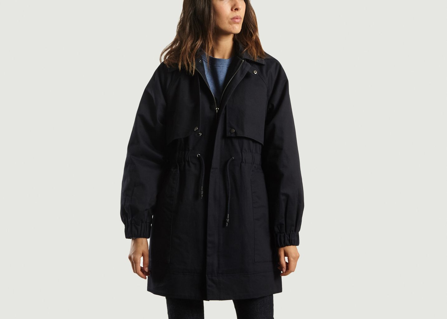 d75b5999e2f5 Everest Parka Navy Blue Soeur
