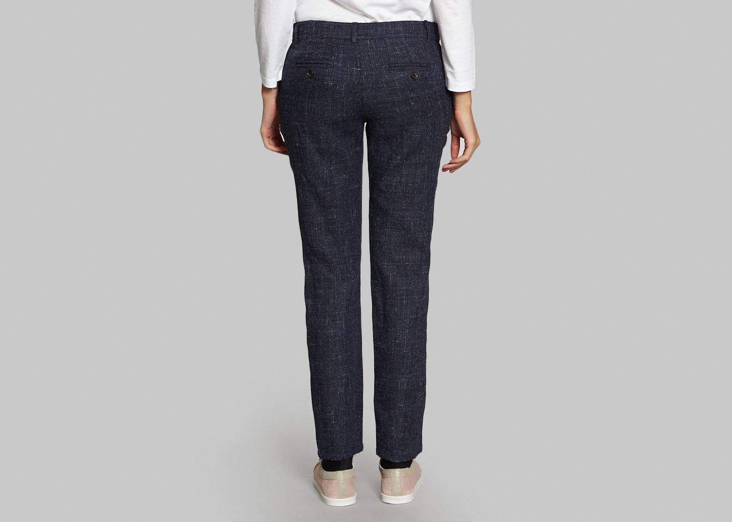 509f244876558 Pantalon Illias Bleu Marine Soeur   L Exception