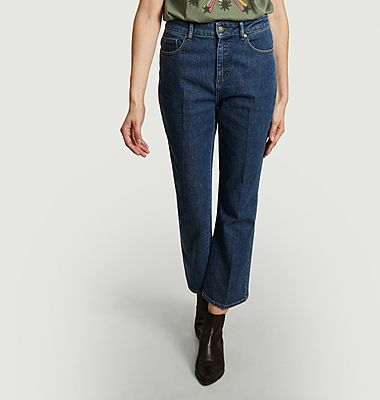 Francisco 7/8 flared raw jeans