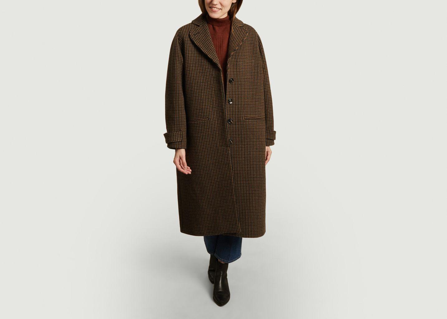 Manteau ample motif pied-de-poule Oscar - Soeur