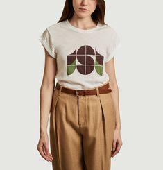 T-shirt en coton et lin Valentin