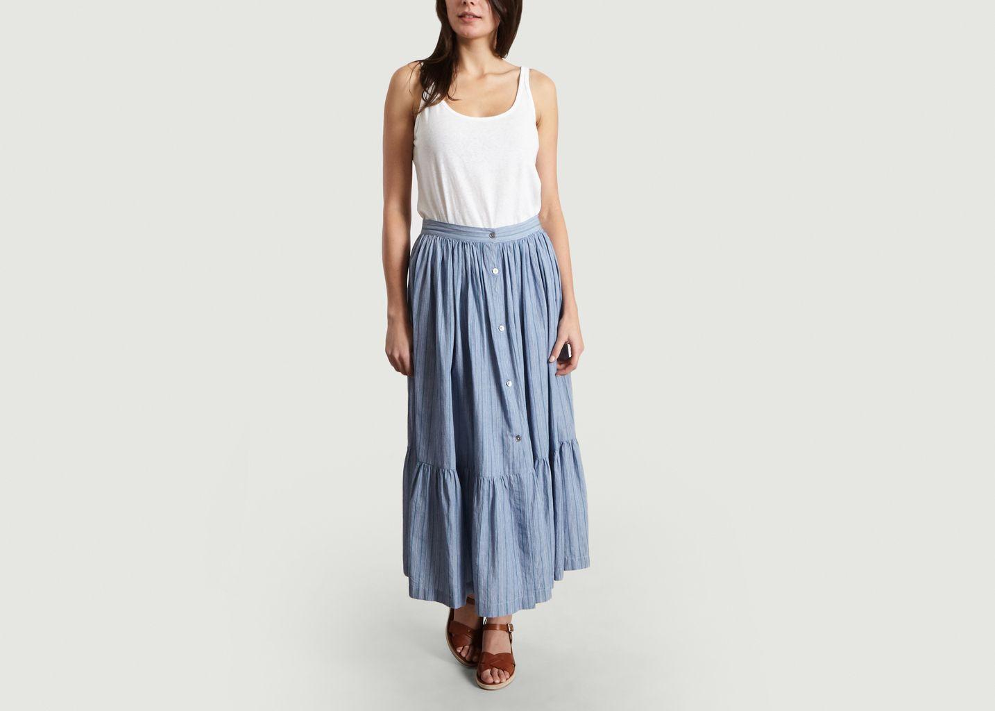 jupe rayée longue