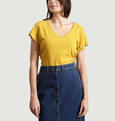 T-Shirt En Coton Et Lin Dominique