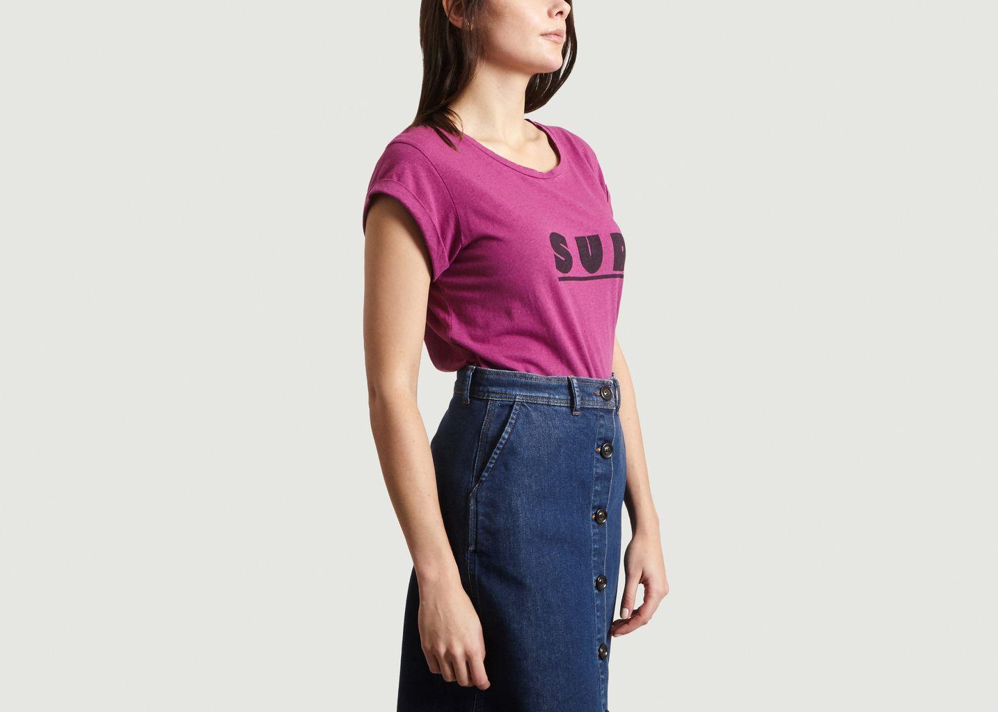 T-Shirt En Coton Et Lin Print Sud Valentin - Soeur