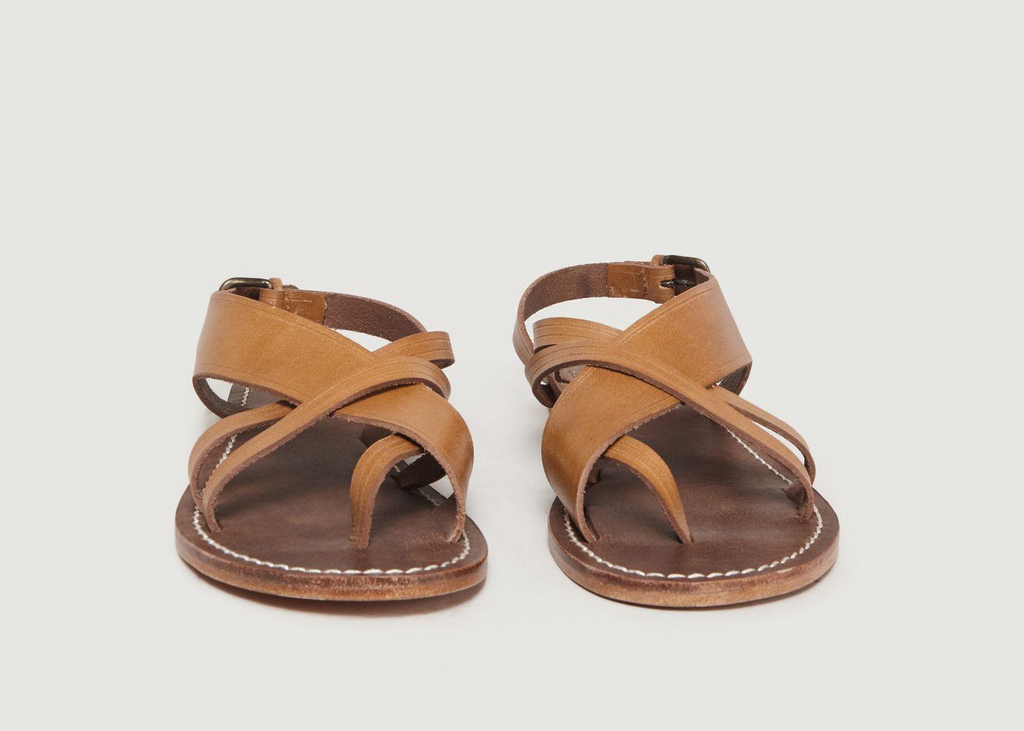 Sandales En Cuir Bleue - Soeur