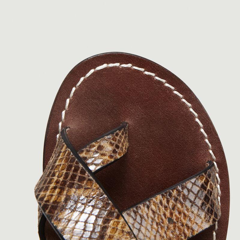 Sandales En Cuir Motif Python Florence - Soeur