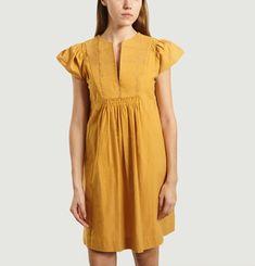Jeannette Embroidered Safran Dress