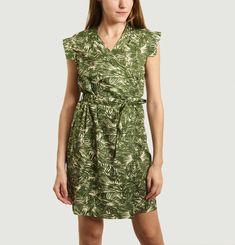 Short Dress Vietnam Bis Palm Print