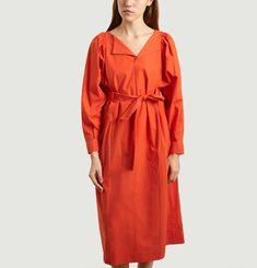 Favignana Poplin Belted Dress