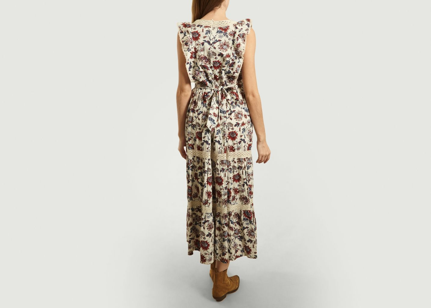 Robe Longue Bella Brodée à Imprimé Fleuri - Soeur