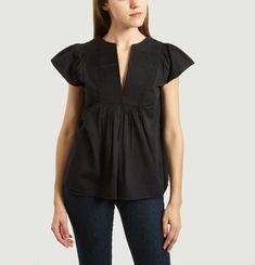 Embroidered Jeanne Top