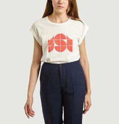 Printed White Valentin T-Shirt