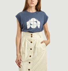 Printed Blue Valentin T-Shirt