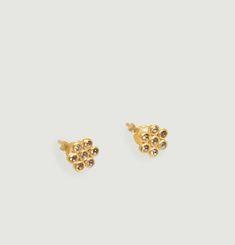 Billie Earrings With Semi-Precious Stones