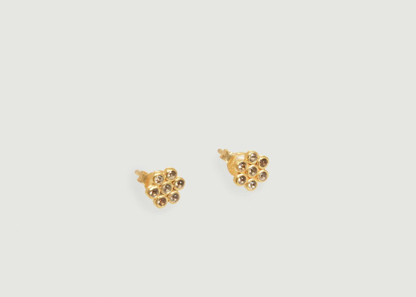 Boucles D'Oreilles Avec Pierres Semi-Précieuses Billie - Soeur