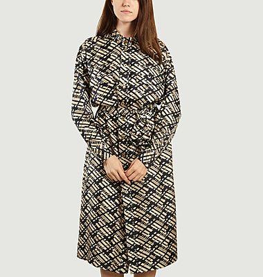 Liberation printed silk dress