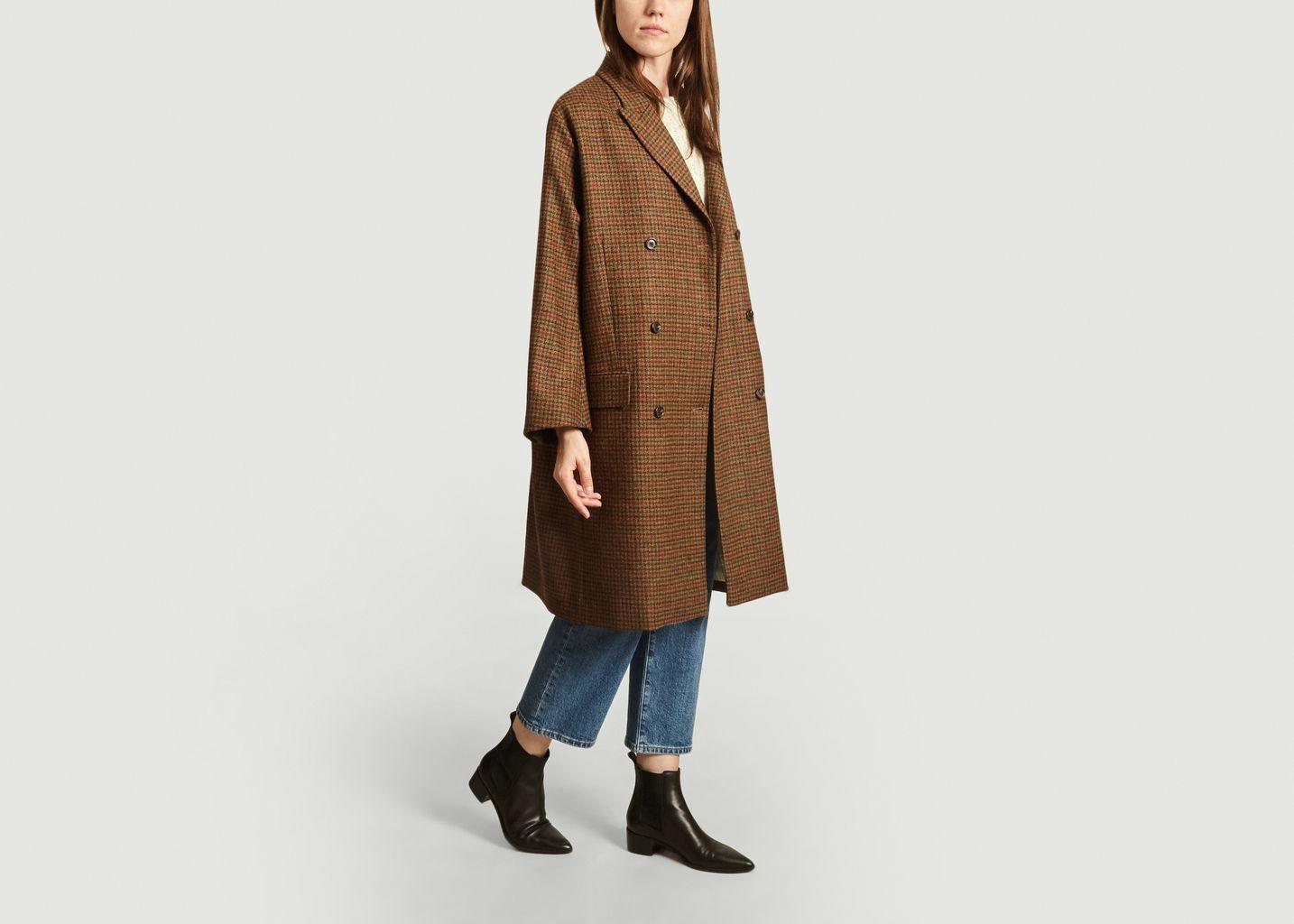 Manteau à carreaux en laine vierge Etienne - Soeur