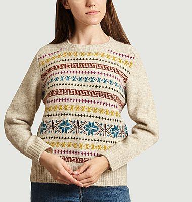 Love jacquard sweater
