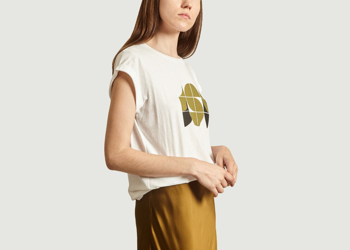 T-shirt imprimé en coton et lin Valentin - Soeur