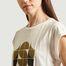 matière T-shirt imprimé en coton et lin Valentin - Soeur