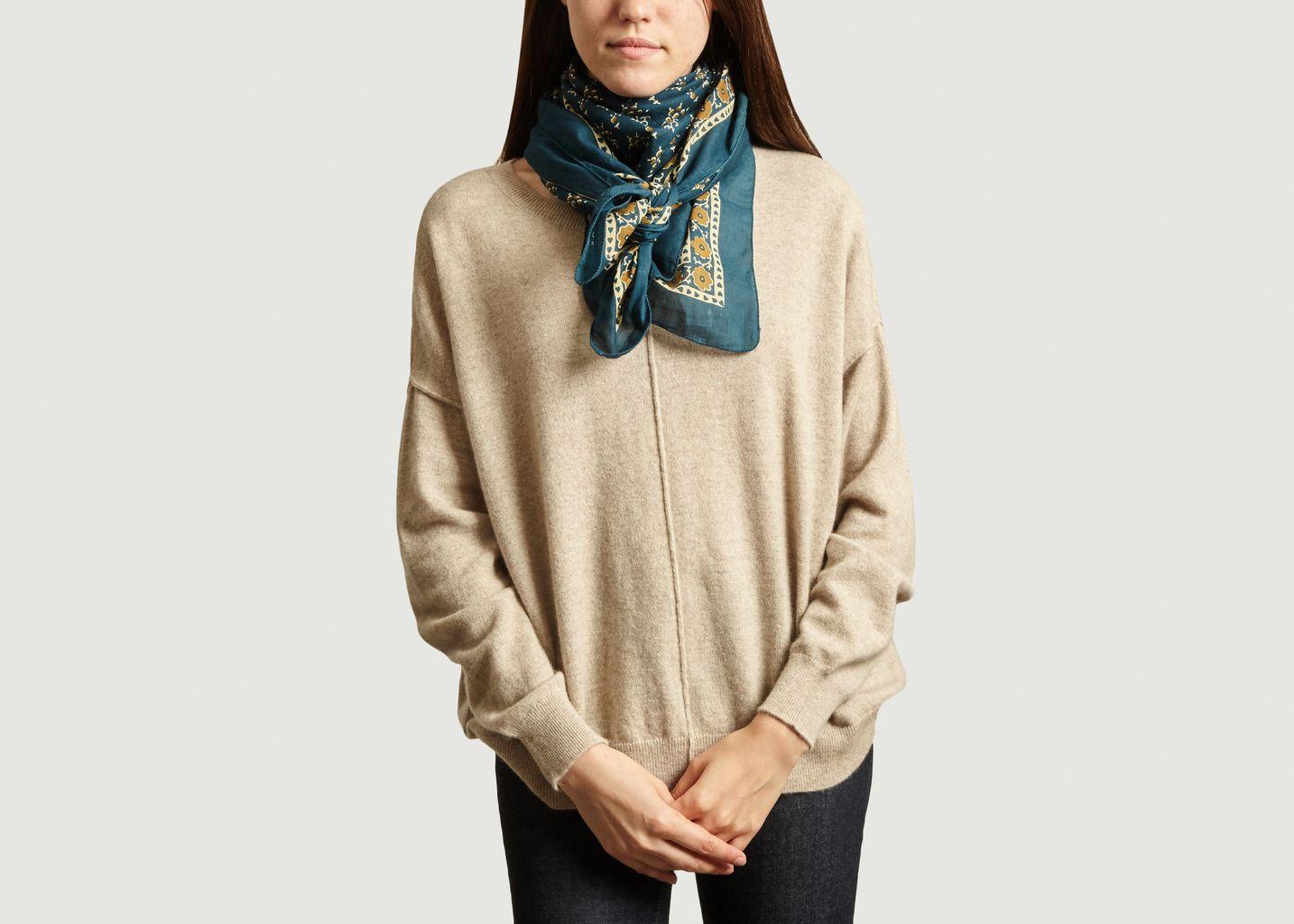 Foulard carré à motif fleuri Classique - Soeur
