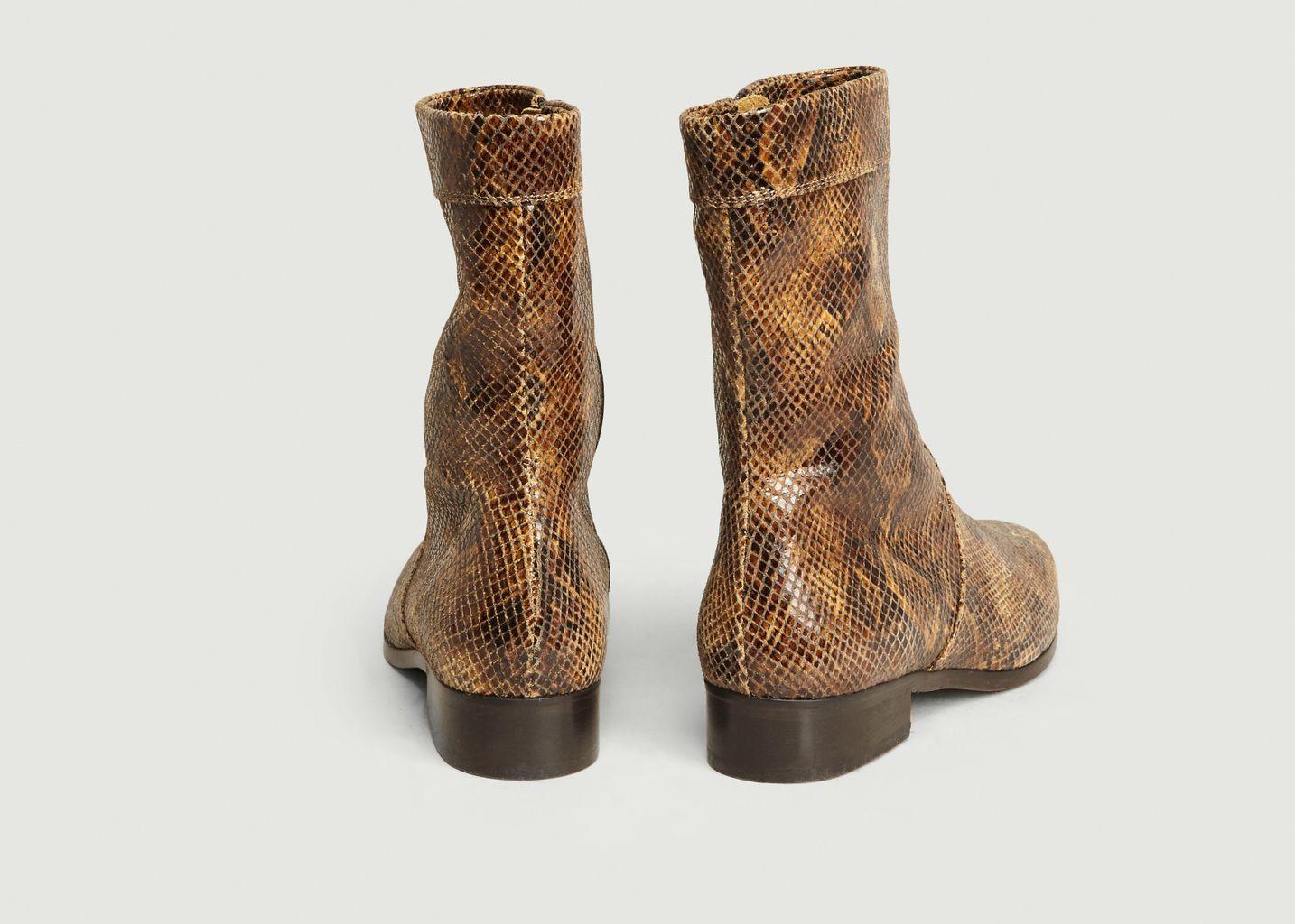 Boots en cuir façon python Ecaille - Soeur