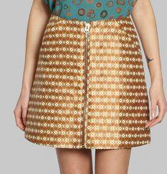 Golden Jacquard Skirt