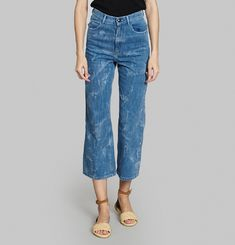 Aqua Stretch Effect Jeans