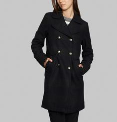 Striped Pea Coat