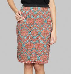 Guipure Embroidered Skirt