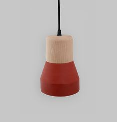 Cement Wood Lamp