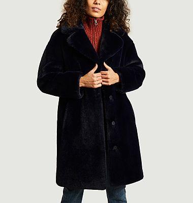 Camille Cocoon faux-fur coat