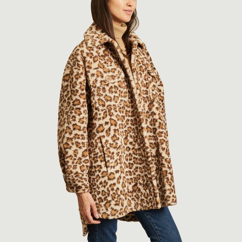 Manteau effet fourrure motif léopard Sabi - Stand Studio