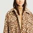 matière Manteau effet fourrure motif léopard Sabi - Stand Studio